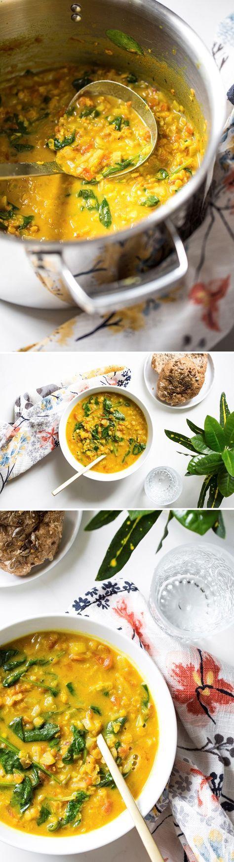 Glowing Spiced Lentil Soup. #Vegan #GlutenFree #SoyFree