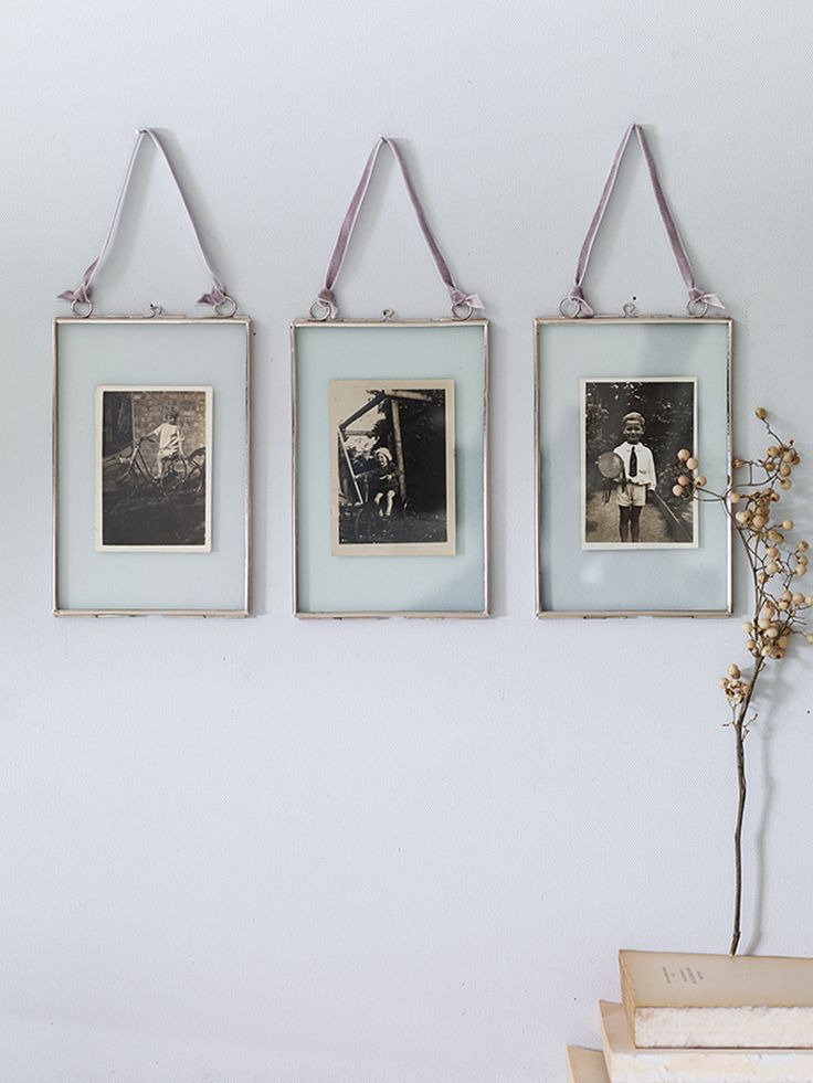 Three Delicate Hanging Frames- Silver £25 and 10% off your first order