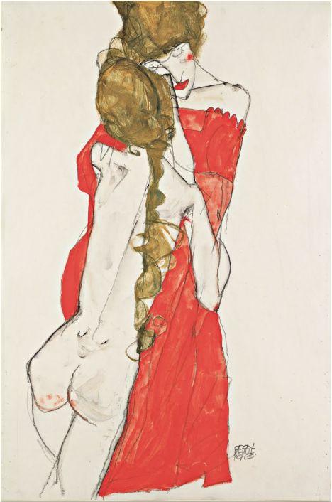 Egon Schiele, Madre e Figlia, 1913. Vienna, Leopold Museum.