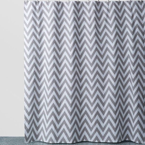 Kassatex Chevron Shower Curtain 50 Liked On Polyvore Featuring Home Bed