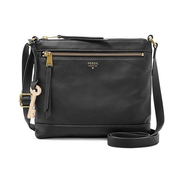 Fossil Ns Crossbody Zb6683001 Color: Black ($128) ❤ liked on Polyvore featuring bags, handbags, shoulder bags, fossil crossbody, black shoulder bag, fossil purses, fossil shoulder bags and black purse