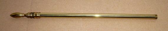 Vtg Brass Table Lamp Center Column Shade Holder Rod Center