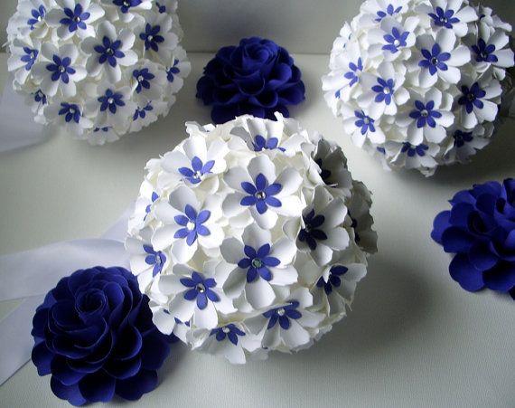 Pomander  - Handmade Paper Flowers -  Aisle decoration  by DragonflyExpression