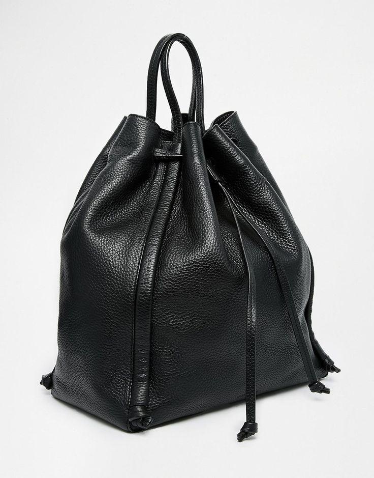 Image 2 ofWhistles Sidney Leather Drawstring Bag