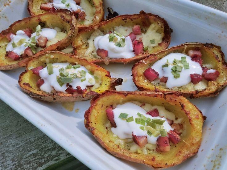 Pieczone ziemniaki (potato skins) - Jest Pięknie