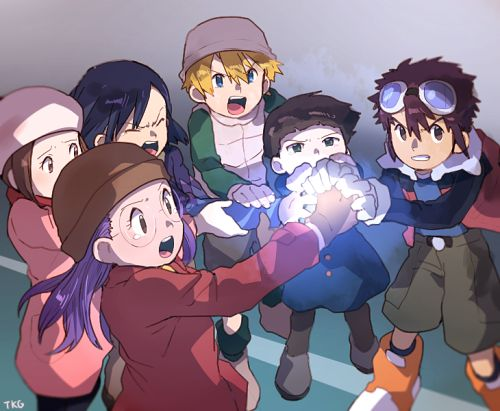 Digimon Adventure 02: Yolei, Kari, Ken, T.K, Cody, and Davis