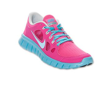 Nike Free Run 5 Running Shoes Pure Platinum Blue Pink #Pink #Womens  #Sneakers