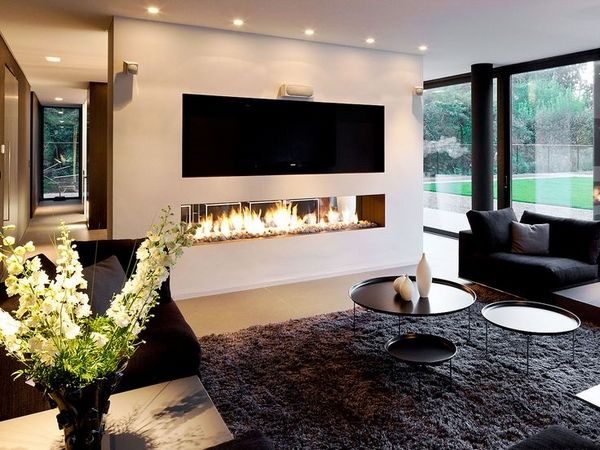 Chic Linear Fireplace Ideas Modern Fireplaces With Great Visual