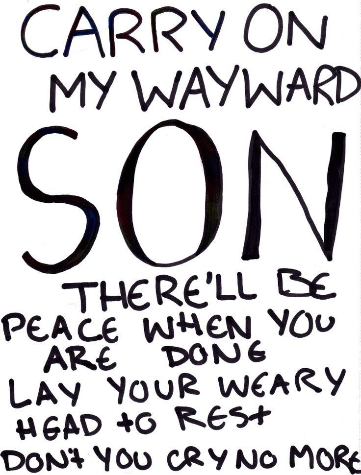 Carry-On Wayward Son Kansas | Carry On My Wayward Son by MorikoFox