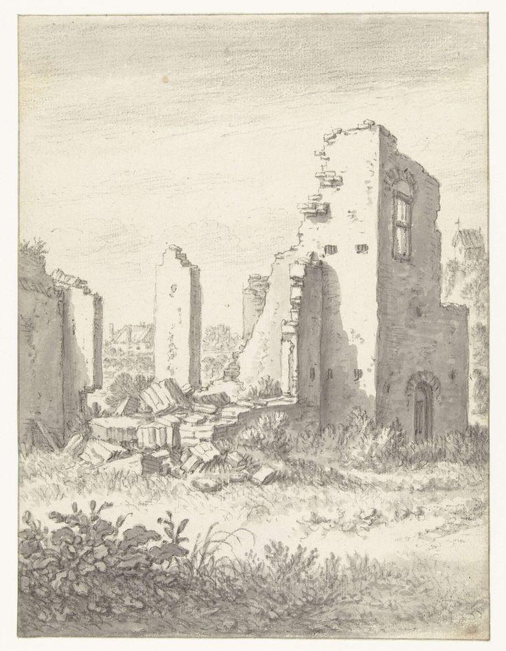 Herman Saftleven   Ruïnes van een huis in Abstede bij Utrecht, Herman Saftleven, 1674  