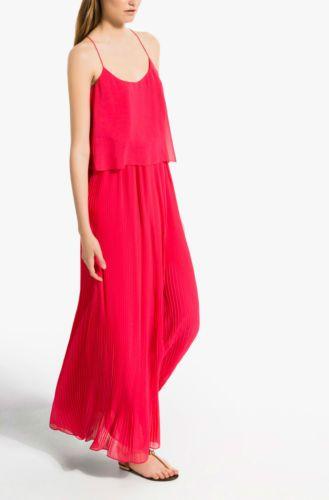 Massimo Dutti Woman Zara Company New Sleeveless Pink Pleated Dress | eBay