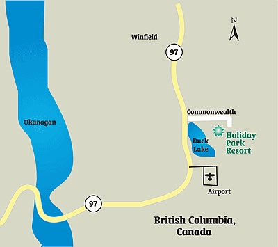 Just where are we located? Just past the Kelowna International Airport on Hwy 97!