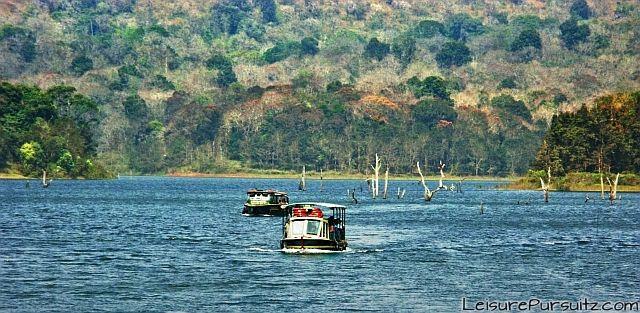 Boating in the Periyar Lake @ Periyar Lake, Kerala