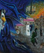The Wedding Candles, 1945  by Marc Chagall (inspired by)