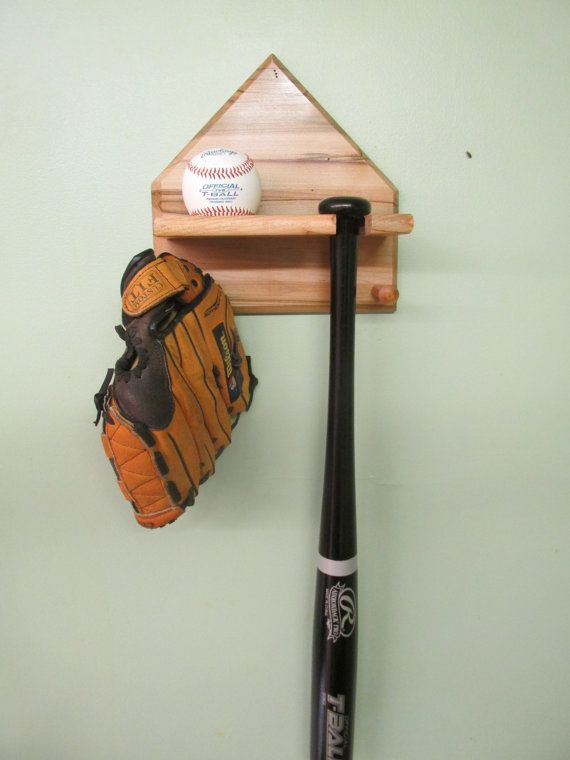 Home plate Baseball bat and ball display Rack , Ambrosia maple wood with clear finish