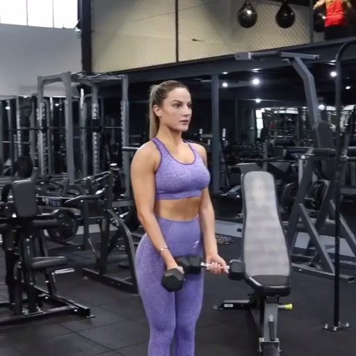 Gymshark Athlete, Krissy Cela working out her upper body with these All Around t… – Videos