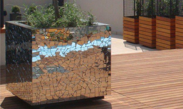Mirror mosaic planter