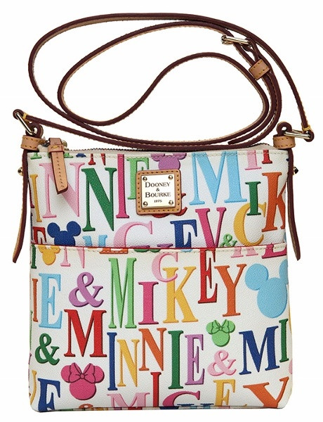 Summer Dooney & Bourke Release Update!  The Mickey Rainbow Letter Collection (official name) will be available in both black and white backgrounds