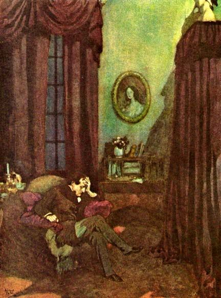 best edgar allan poe quotes and pics images  illustration of edgar allan poe s the raven by