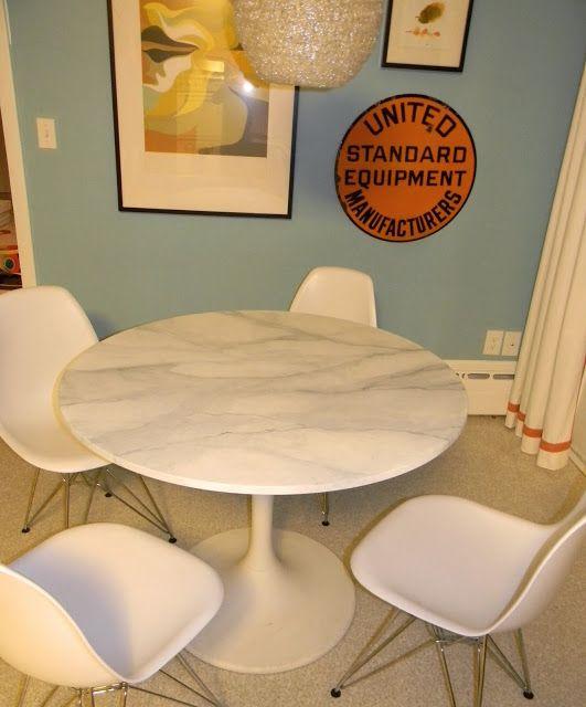 Buy or DIY: Marble Saarinen Tulip Table vs. the IKEA Hack. So glad I saw this!!