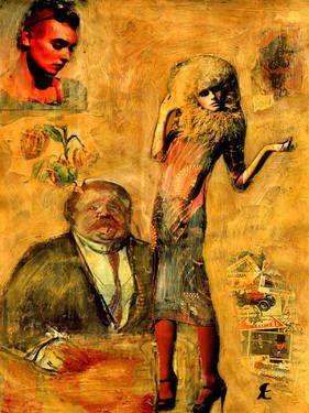 """Saatchi Art Artist CRIS ACQUA; Collage, """"32-LAUTREC x Cris Acqua."""" #art"""