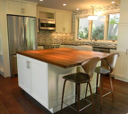 162 best Kitchen Islands with Wood Countertops images on Pinterest ...