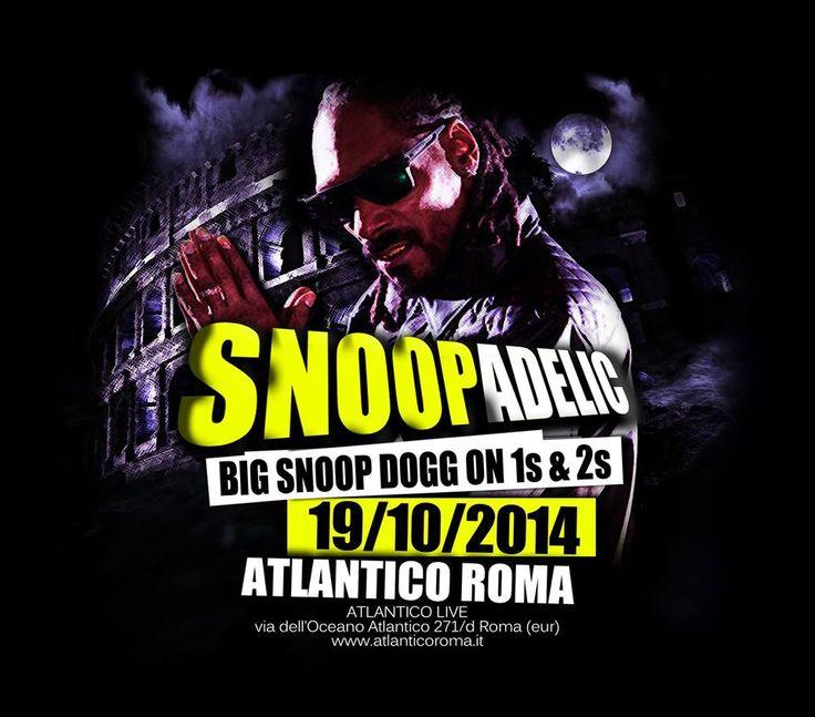 Snoop Dogg Roma 19 ottobre atlantico.