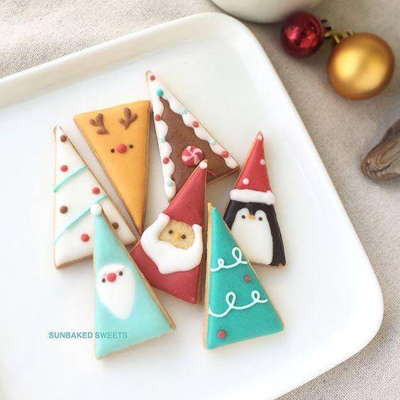 Christmas rolled cookies, royal icing, cutout cookies, hand decorated, Christmas tree, Santa, penguin, elf, reindeer, gingerbread house #sunbakedsweets #sunbakedsweets_online #HolidayCookies