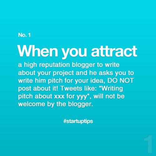 Start-Up Tips no. 1