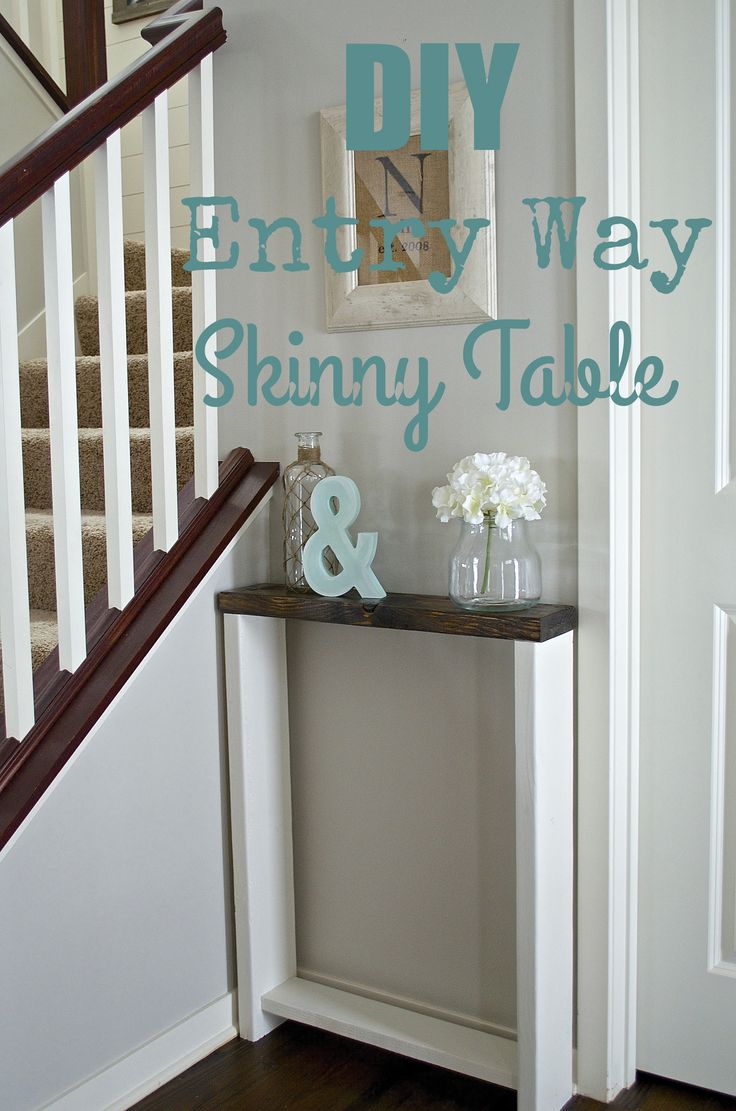 skinny entryway table