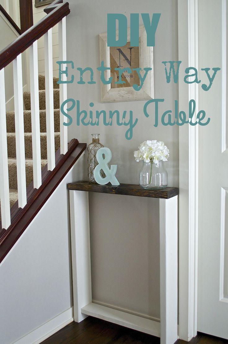Diy Small Foyer : Skinny entryway table diy pinterest coats a well