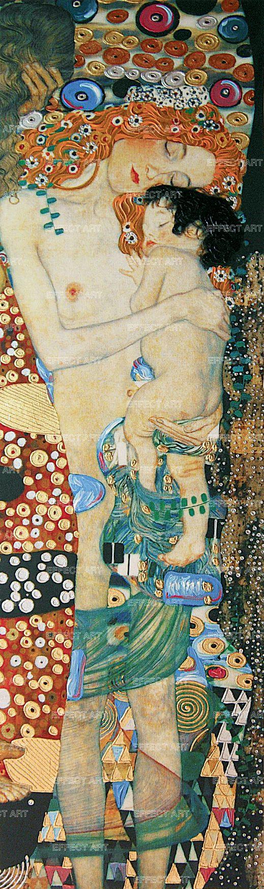 Klimt Gustav (1862-1918)   Le tre et� della vita (particolare), (1905) MATERICA ORO CAPELLI RAMATI