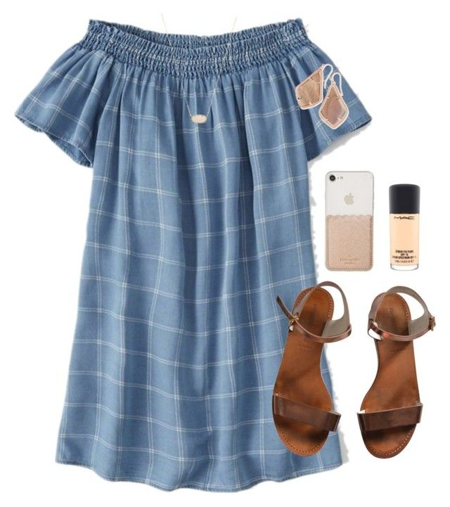 Thursday by abbyharshman8 on Polyvore featuring Abercrombie & Fitch, Emporio Armani, Kendra Scott, Kate Spade and MAC Cosmetics
