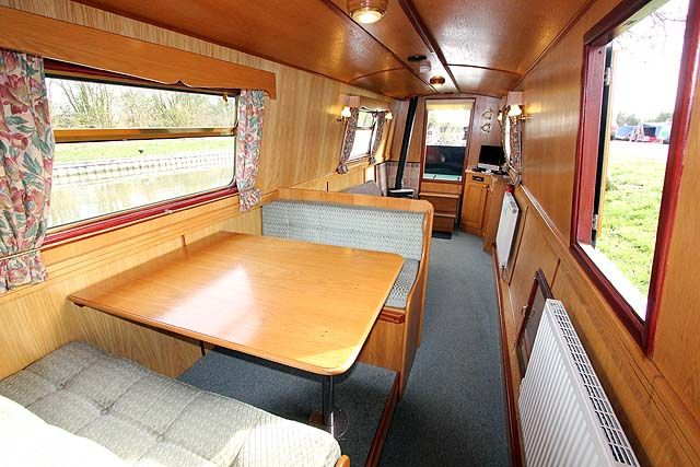 A Dinette On A Narrowboat Is A Dining Table Arrangement