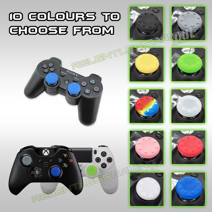 2x Silicone Gel Thumb Grips For PS3/PS4/ Xbox 360/ONE  £1.89 Free UK Delivery  Improve your Gaming experience & accuracy with these thumb grips, 10 Colours to choose from!