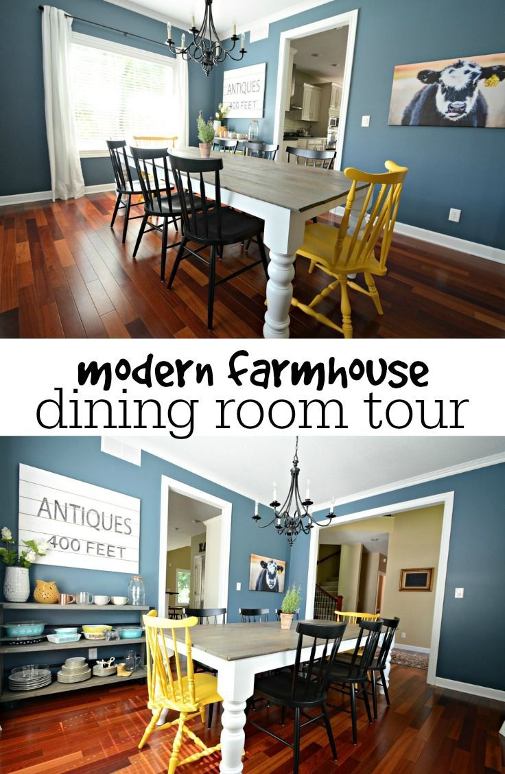 Modern Farmhouse Dining Room Tour.  Great before and afters!
