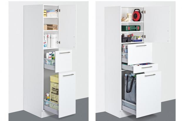 Wertstoffsammlung Im Hauswirtschaftsraum Bild 13 Hauswirtschaftsraum Schliessfacher Waschkuchendesign