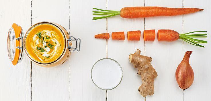 Soupe de carottes coco en conserve