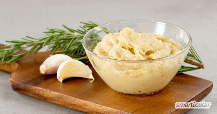 Knoblauch-Aufstrich selber machen: würzig-aromatisch mit weißen Bohnen