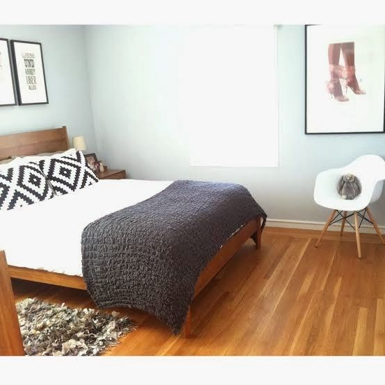 The Westhood: California / Home / Design. Eames replica, West Elm mid century modern bedroom