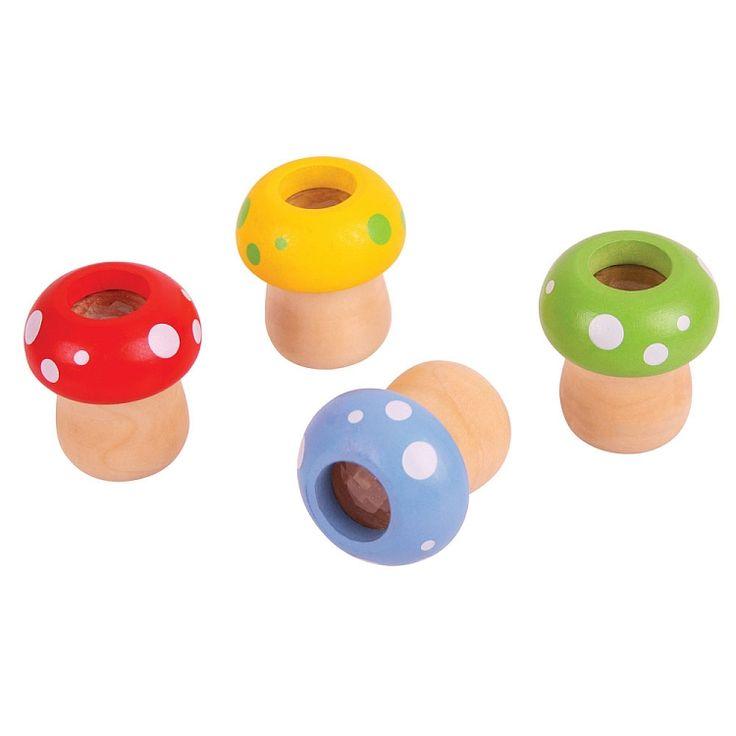 Bigjigs Toys, Grzybki, kalejdoskop drewniany