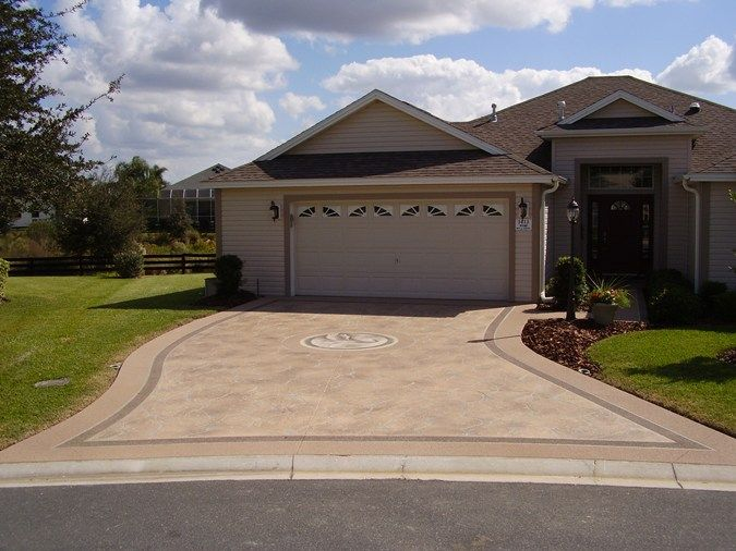 Decorative concrete driveway.  Featured 6/10/13. Concrete By Design Fishers, IN