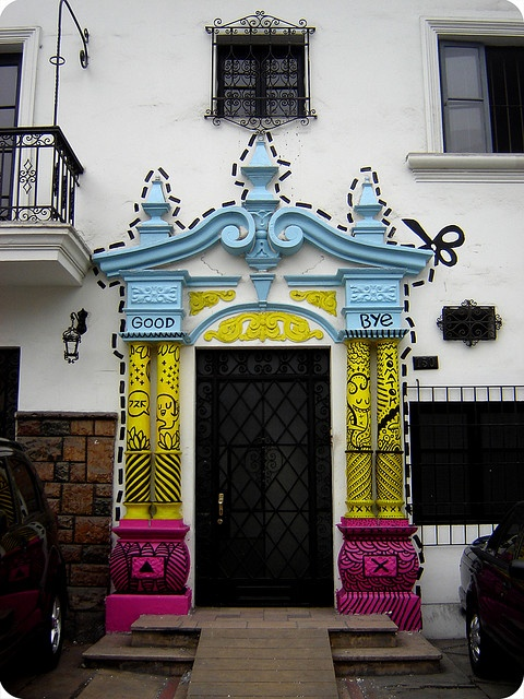 good bye casa!  by XOMATOK: Doors Window, Puertas Secreta, Good Bye, Street Art, Front Doors, Amazing Doors, Secret Doors, Cut Outs, Streetart