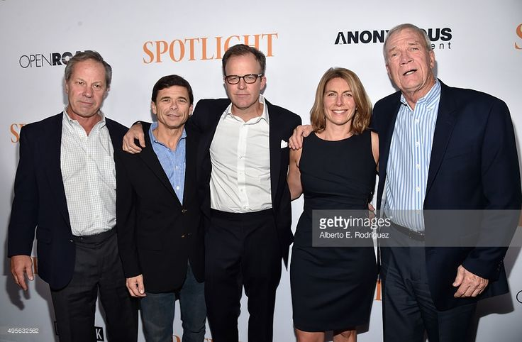 Journalists Ben Bradlee, Jr., Michael Rezendes, director Tom McCarthy, journalists Sacha Pfeiffer and Walter Robinson attend a Special Screening of Open Road Films' 'Spotlight' at The DGA Theater on (November 3, 2015) in Los Angeles, California.