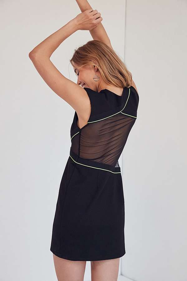 Slide View: 2: Silence + Noise Mesh Inset Muscle T-Shirt Dress