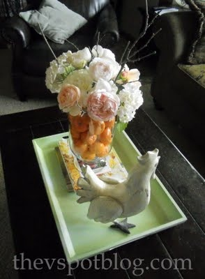 tangerines and roses: Do S, Beautiful Centerpiece, Fruit Flowers, Arreglo Mesa, Easy Floral, Floral Arrangements, Orange Centerpieces, Oranges Centerpiece