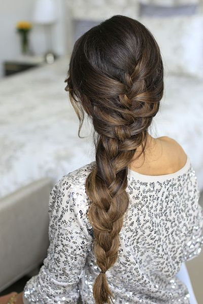 Long, thick hair is especially well-suited to gorgeous French braid hairstyles.