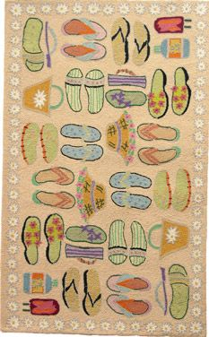 Sandy Beach Sandals Area Rug at Ocean Styles. love it!