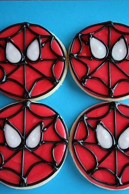 The Cookie Mama: Spiderman Cookies