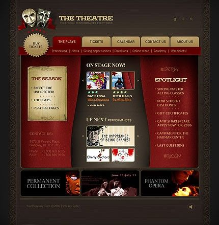 Theatre Webpage Flash Templates by Lovely